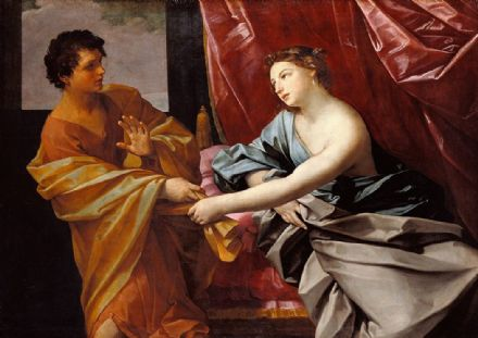 Reni, Guido: Joseph and Potiphar's Wife. Fine Art Print/Poster. Sizes: A4/A3/A2/A1 (002107)